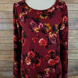 NWT Design Lab XS Lord & Taylor Floral Top Shirt
